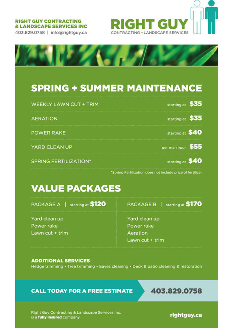 Picture - Current Flyer - Right Guy Contracting & Landscape Services Inc.